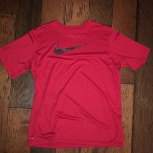 Red Nike Dri-Fit Shirt